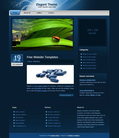 Free Html Templates Free Html Templates Tryprodermagenix Org