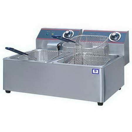 table top deep fryer 4 x 2 liters table top electric commercial double deep