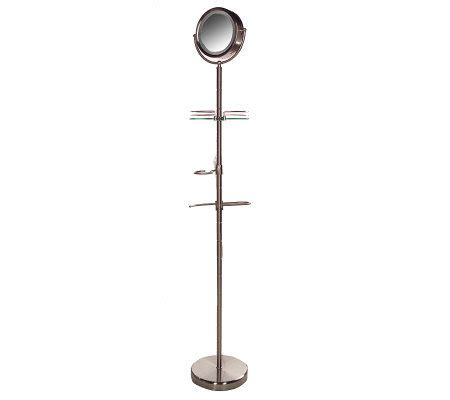 qvc floor mirror homedics spa reflectives illuminated floor standing mirror qvc com