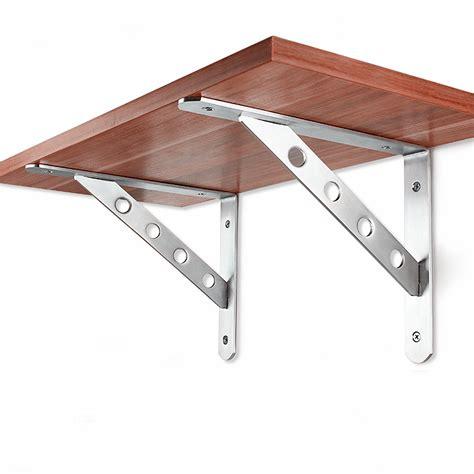 bracket wall shelf 1 pair 6 12 inch stainless steel wall shelf mount brackets