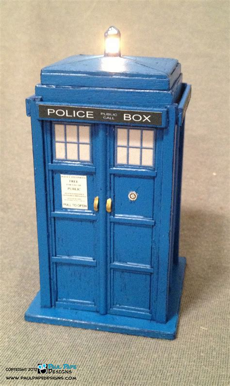 paul pape designs doctor who tardis engagement ring box