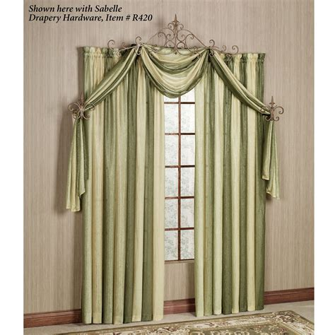 Scarf Drapes - ombre semi sheer scarf valance and window treatments