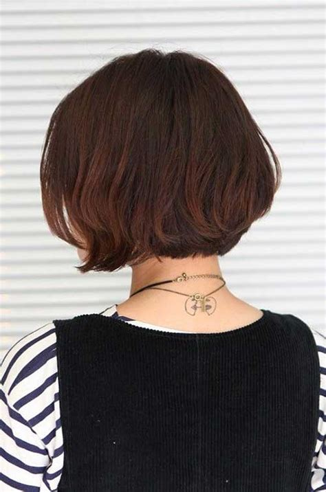 back view of short bob haircuts bob hairstyles 2018