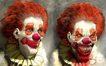 Clowns Clown Wallpapers Scary Evil Background Face