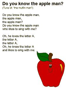 apple songs preschool quot the apple quot song to the tune of quot the muffin 239