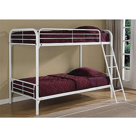 white bunk beds walmart dorel metal white bunk bed with 2