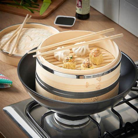 vonshef    tier bamboo steamer cooking gizmos
