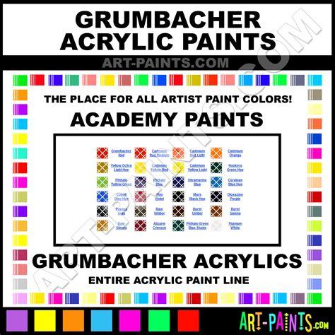 grumbacher academy acrylic paint colors grumbacher