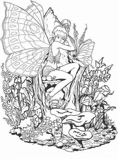 Coloring Pages Adults Fairies Pdf Difficult
