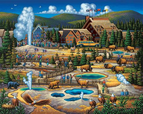yellowstone stratascape national parks folk art