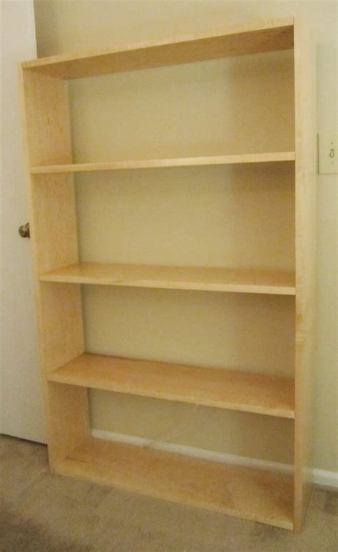 Solid Maple Bookcase by White Solid Maple Ikea Inspired Bookcase Diy Projects