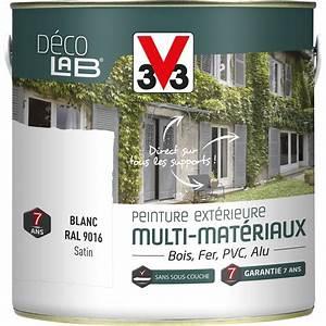 Peinture Glycero Bois Exterieur : peinture multimat riau ext rieur v33 blanc 2 l leroy merlin ~ Melissatoandfro.com Idées de Décoration