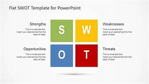 flat swot analysis design for powerpoint slidemodel With swot analysis ppt template free download