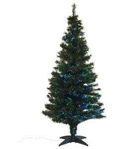argos fiber optic christmas tree 5ft green fibre optic tree 6ft