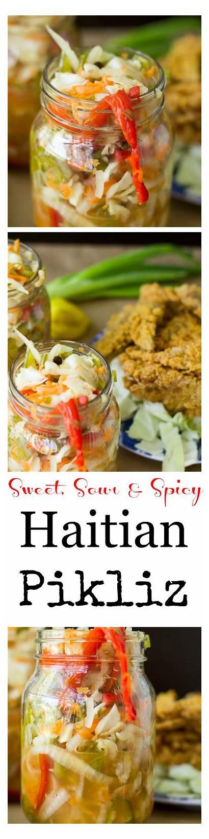 Haitian Pikliz Recipe Coleslaw Recipes Spicy Dish