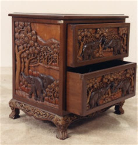 20 Inch Wide Nightstand by Carved Furniture Stands