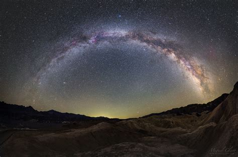 Milky Way From Zabriskie Point Death Valley
