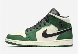 "Air Jordan 1 Mid SE ""Pine Green"" Release Info  Mid"