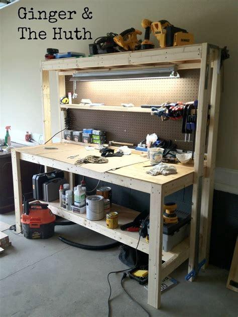ginger  huth diy work bench garage work bench
