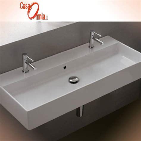 rubinetto per lavabo da appoggio lavabo con due fori rubinetto teorema casaomnia