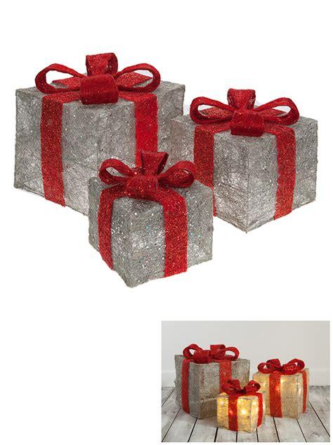 led light up presents set of 3 led light up christmas present xmas gift box xmas
