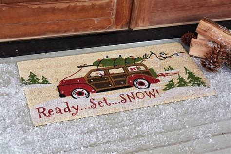 snow doormat ready set snow doormat park designs