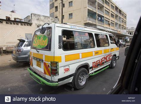 African Taxi Or Matatu In Central Mombasa Kenya East