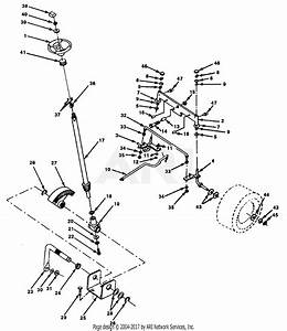 Poulan Pp1442 Tractor Parts Diagram For Steering Front