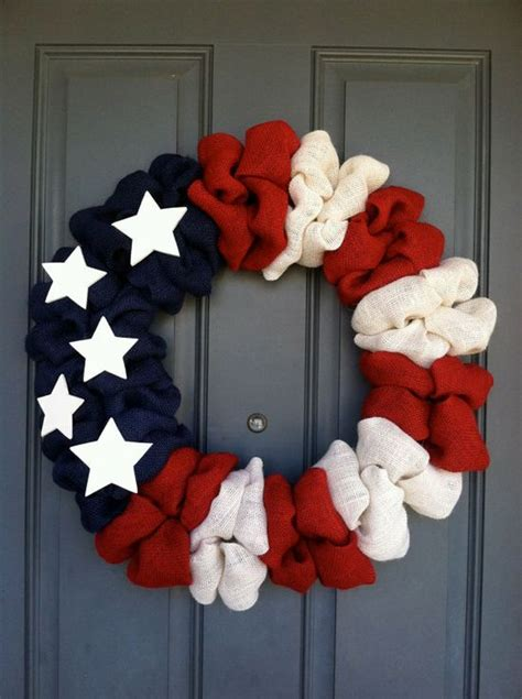 patriotic american flag wreath  woulfscreations  etsy