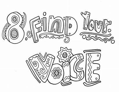 Habits Coloring Pages Habit Happy Voice Colouring