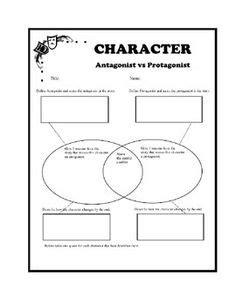 antagonist vs protagonist worksheets beed 3