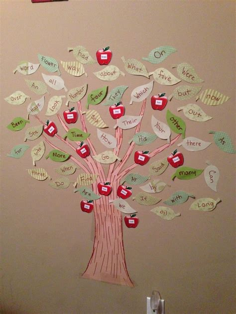 kindergarten sight word tree   children learn