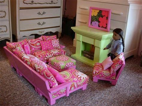 American Doll Living Room Plans by Living Room Set For American Dolls With
