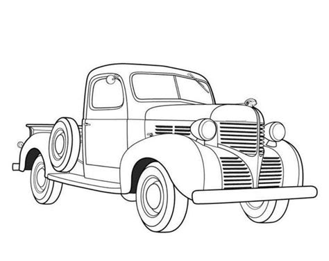 Classic Cars And Trucks Coloring Pages Cars And Trucks Coloring Pages