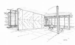 Barcelona Pavilion Drawing