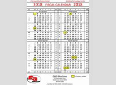 2018 fiscal calendar Pertaminico