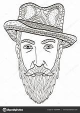 Coloring Beard Elderly Head Illustration Vector Adults Depositphotos Gmail sketch template