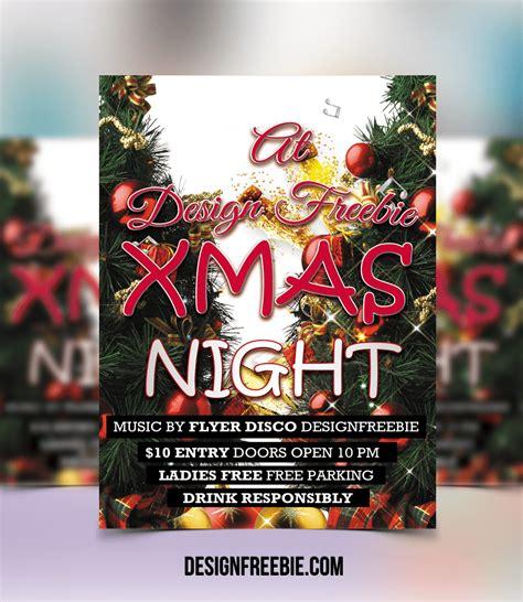 christmas twilight market flyer template free download3 free christmas night party flyer template