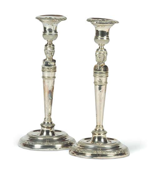 candelieri in argento coppia di candelieri in argento carlo x torino 1820