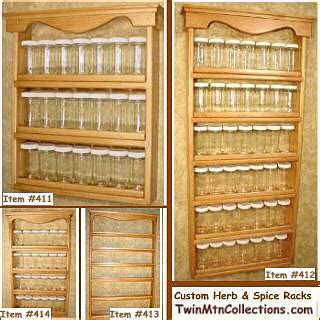 Large Wall Mount Spice Rack by Spice Storage Solutions Spice Jars Racks