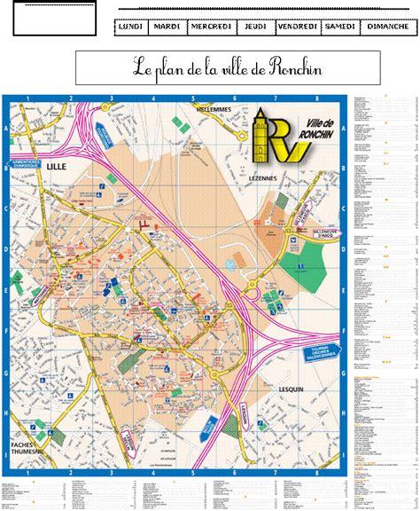 Mairie Ville De Plan De Le Plan De La Ville De Ronchin De Monsieur Mathieu