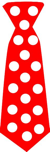 red tie  polka dots clip art  clkercom vector