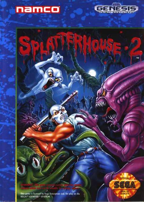 Splatterhouse 2 1992 Genesis Box Cover Art Mobygames