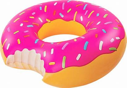 Donut Float Clipart Strawberry Frosting Pool Transparent
