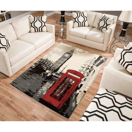 terra london rectangle area rug blackwhitered walmartcom