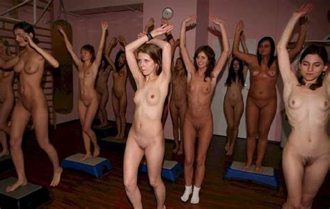 Naked Aerobics Group Of Nude Girls Luscious