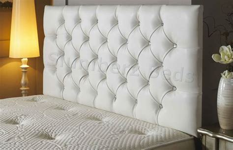 white leather headboard bedford buttoned faux leather headboard