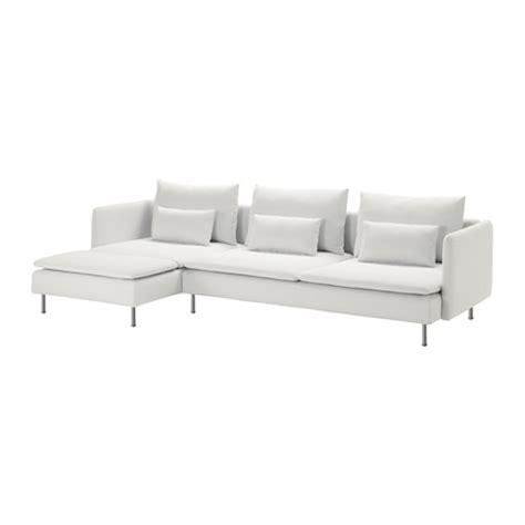 canapé blanc ikea söderhamn sectional 4 seat finnsta white ikea