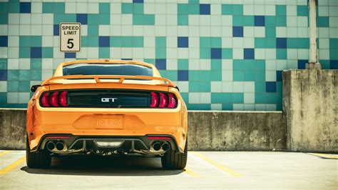 ford mustang gt fastback sports car   wallpaper