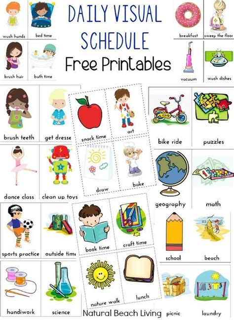 daily visual schedule  kids  printable  kids